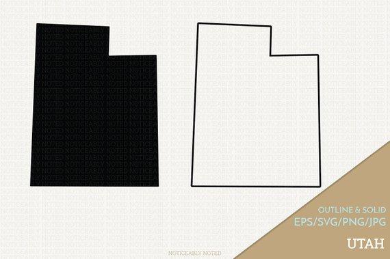 570x379 Utah Vector State Clipart Ut Clip Art Utah Svg State Png Etsy