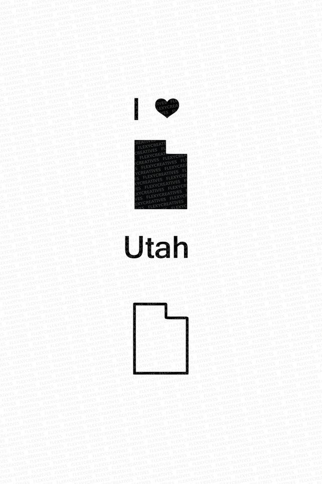 642x963 Utah Vector State Clipart Utah Clip Art Utah Map Clip Art Etsy