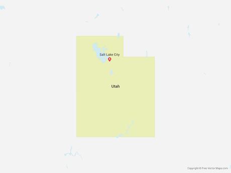 460x345 Vector Map Of Utah Free Vector Maps