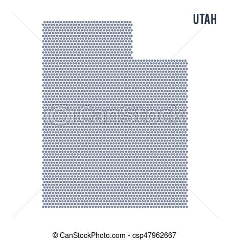 450x470 Vector Hexagon Map Of State Of Utah On A White Background. Vector
