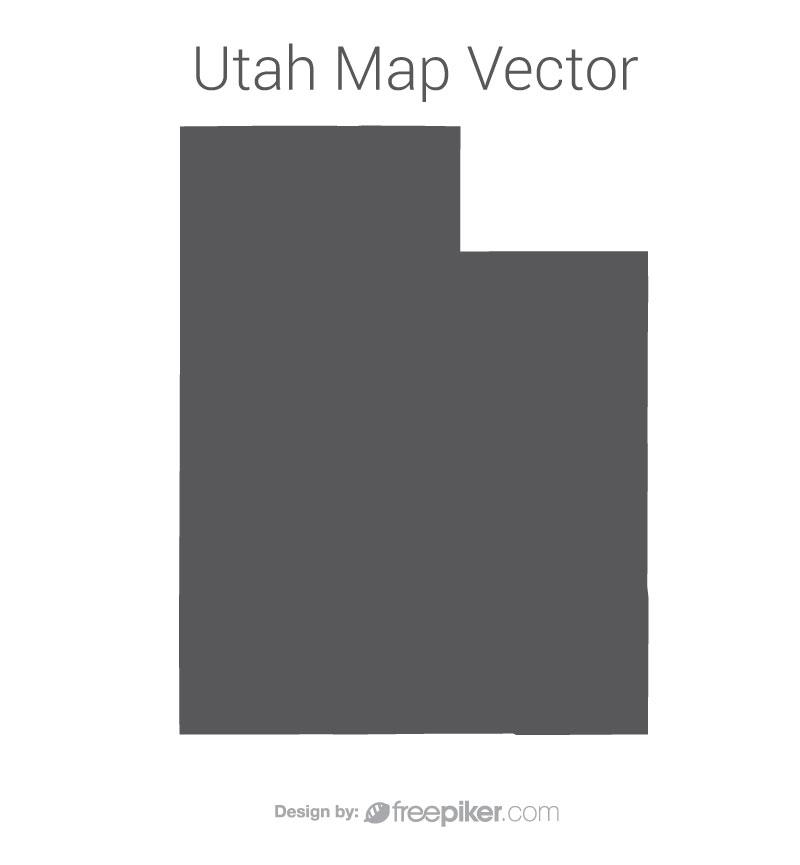 800x865 Freepiker Utah Map Dark Vector Design