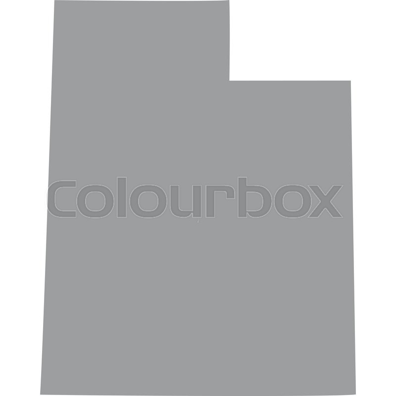 800x800 Map Of The U.s. State Of Utah Stock Vector Colourbox