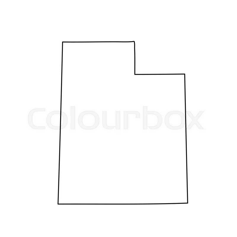 800x800 Map Of The U.s. State Of Utah. Vector Illustration Stock Vector