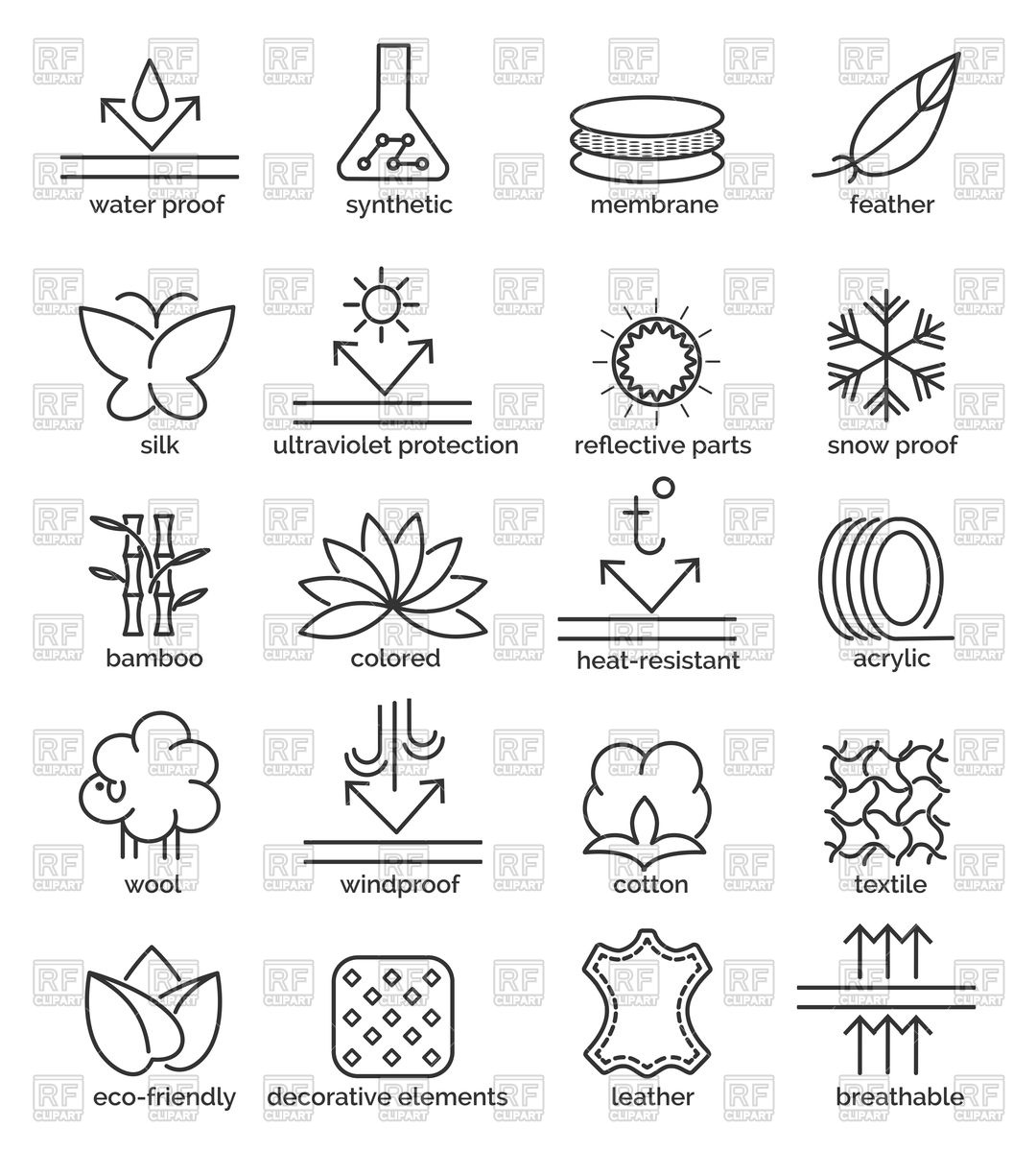1080x1200 Set Of Fabric Feature Icons