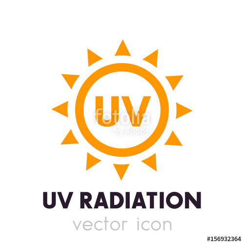 500x500 Uv Radiation Vector Icon Stock Image And Royalty Free Vector