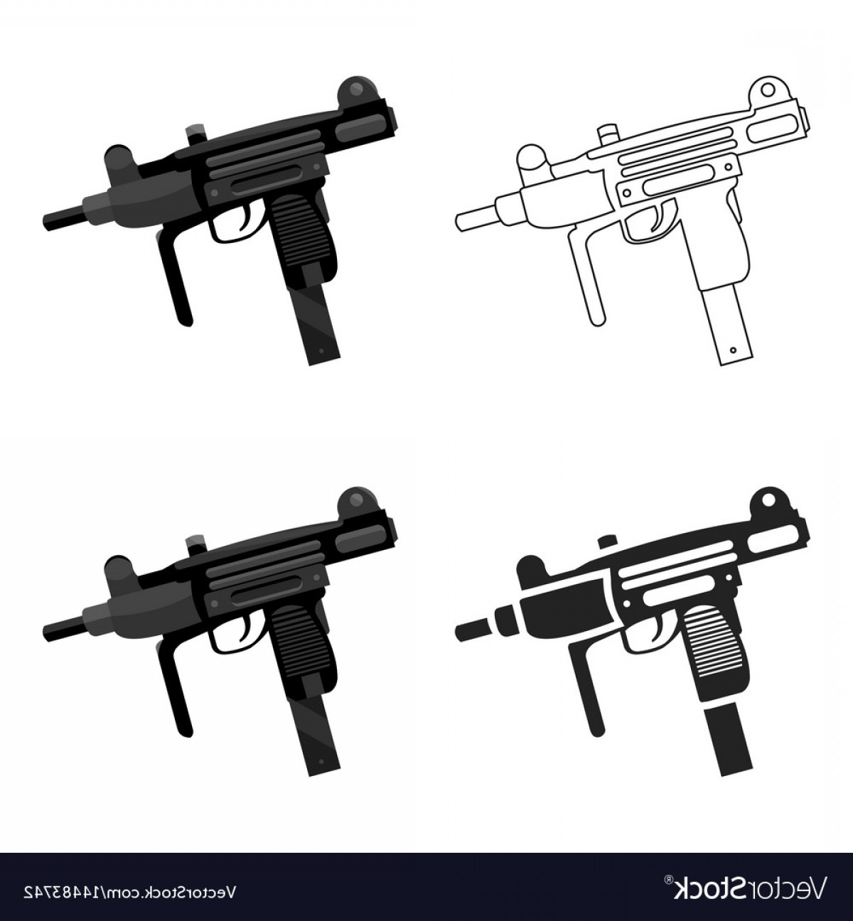 1200x1296 Uzi Weapon Icon Cartoon Single Weapon Icon From Vector Arenawp
