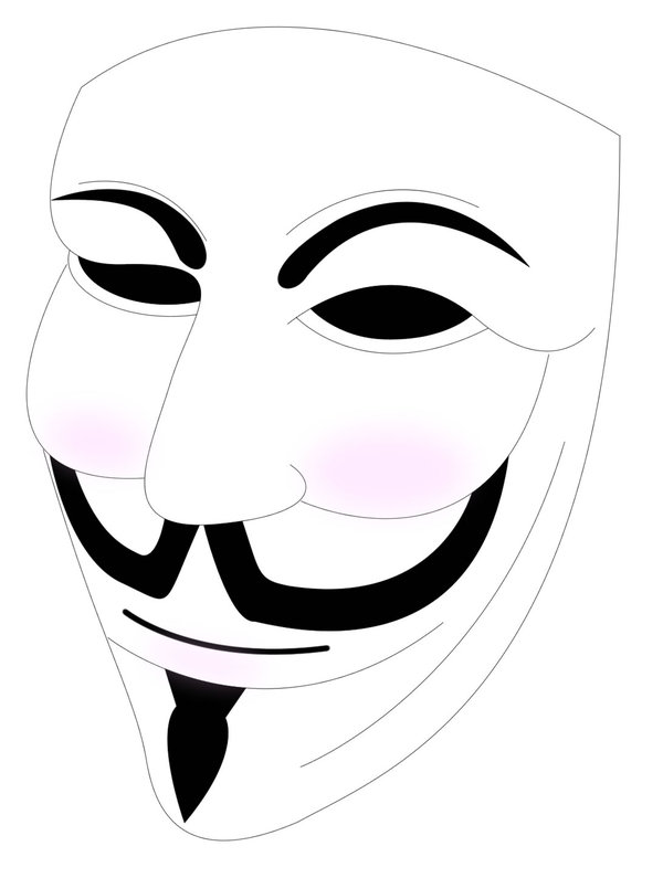 600x795 Guy Fawkes Vector Mask By Braziliannut