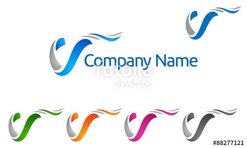 500x300 V, V Letter, Vector, Logo, Design Stock Image And Royalty Free