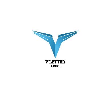 389x346 V Letter Alphabets Speed Motion Inspiration Vector Logo Design
