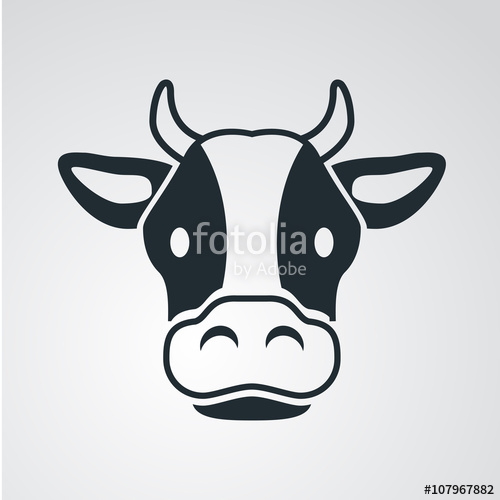 500x500 Icono Plano Cabeza De Vaca En Fondo Degradado