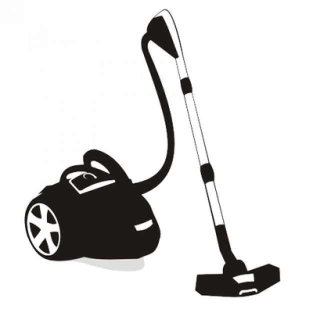 626x626 Vacuum Cleaner Device With Wheels Vector Free Download