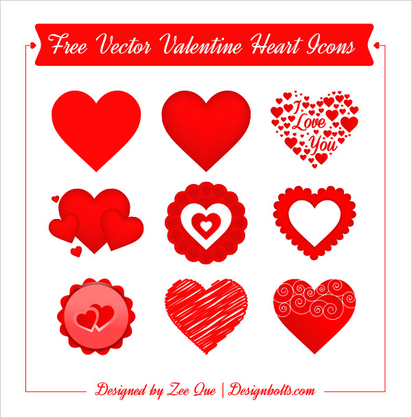 600x609 Free Vector Valentine Heart Icons Pngs Amp .ai File