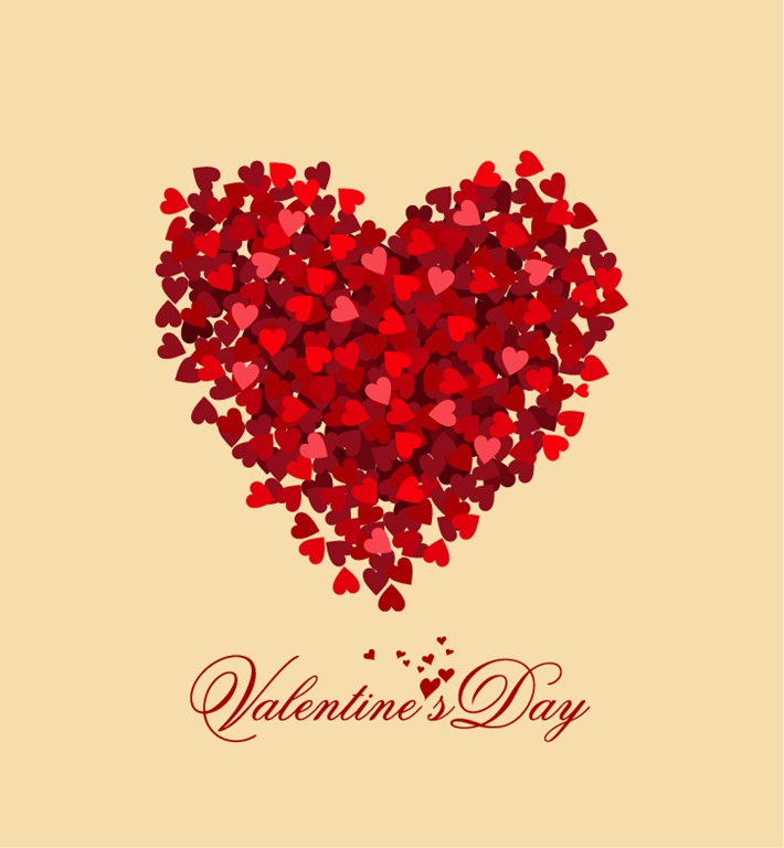 710x768 Valentine Day Heart Vector Illustration Free Vector Graphics