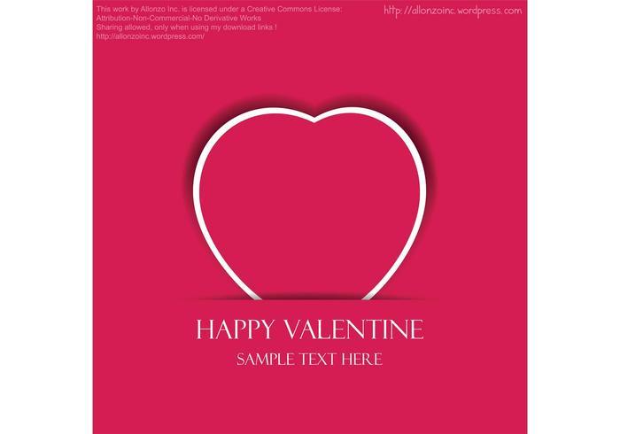 700x490 Valentine Heart Vector Card Free Vector Art