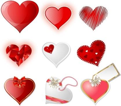 418x368 Valentine Hearts Vectors Free Vector In Adobe Illustrator Ai ( .ai