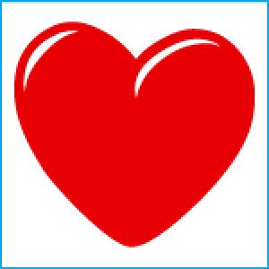 300x300 Valentine Hearts Vector