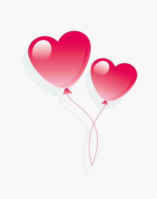 650x826 Cartoon Pink Valentine Heart Balloon, Cartoon Vector, Valentine