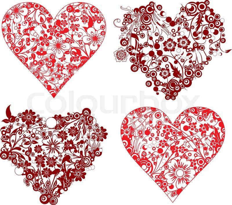800x708 Valentine Background, Hearts, Vector Illustration Stock Vector