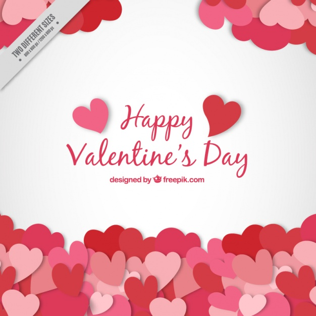 626x626 Valentine Background With Hearts Vector Free Download