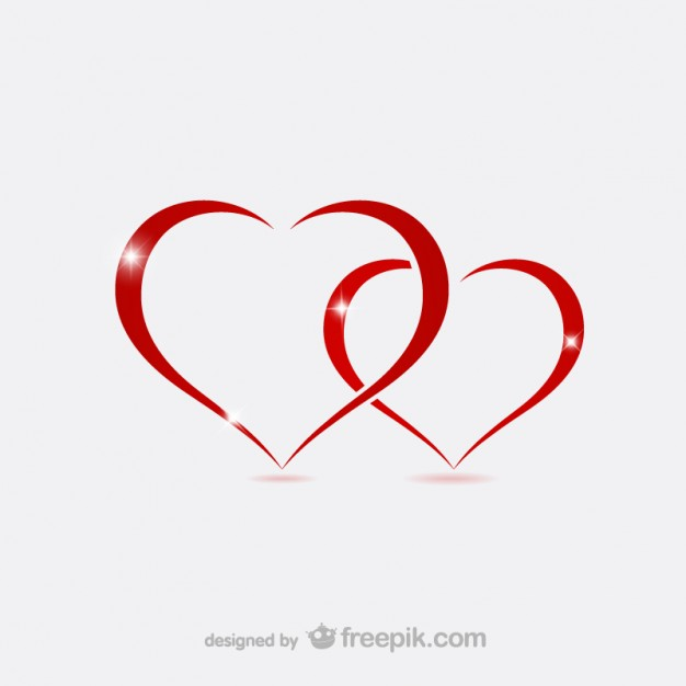 626x626 Valentine Hearts Outlines Vector Free Download