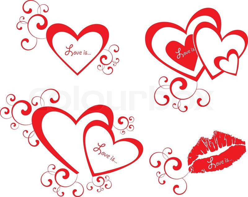 800x634 Vector Valentine Background With Heart Stock Vector Colourbox