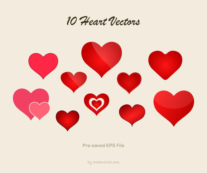 720x600 Download 10 Free Valentine Heart Vectors