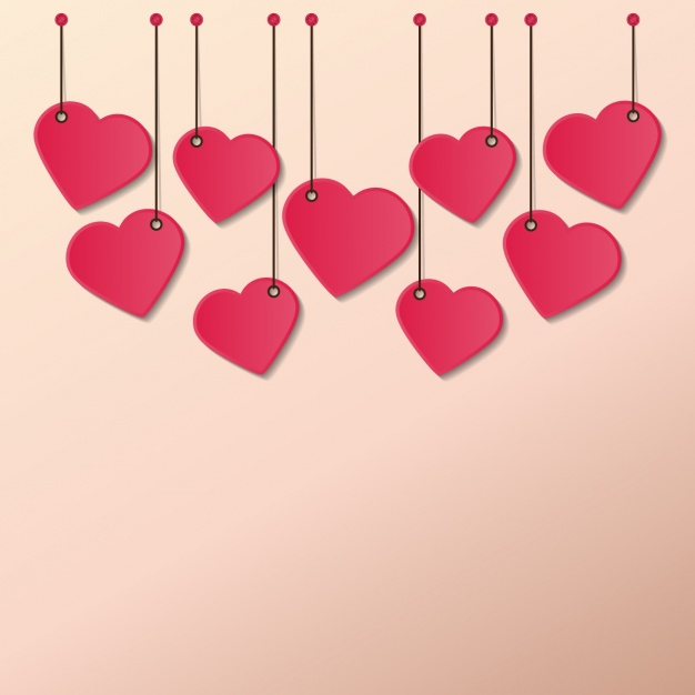 626x626 Hearts Hanging Ropes Vector Free Download