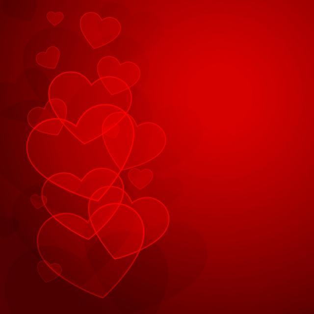 640x640 Hearts Background For Valentine Day Vector Design Illustration