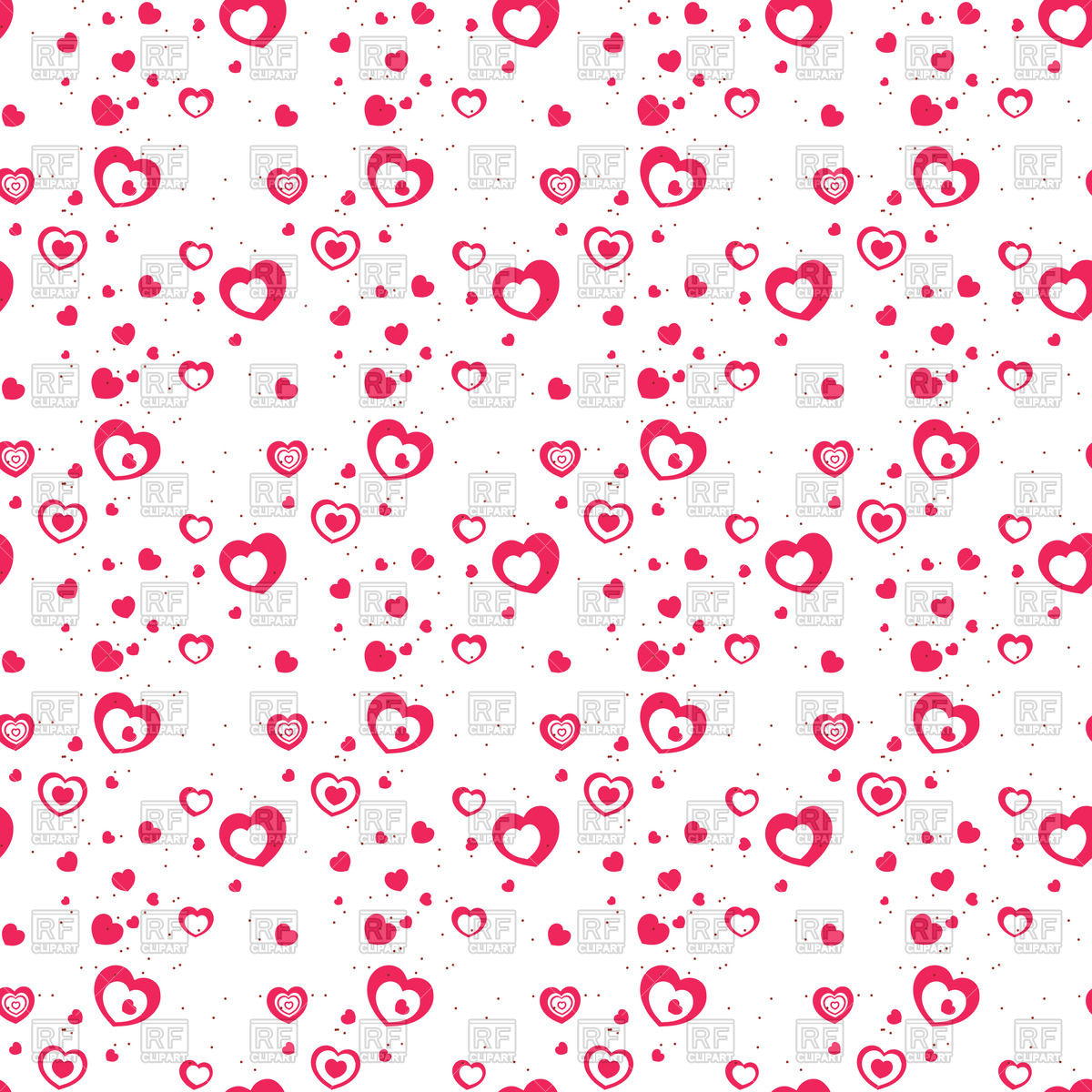 1200x1200 Seamless Romantic Pattern With Little Hearts