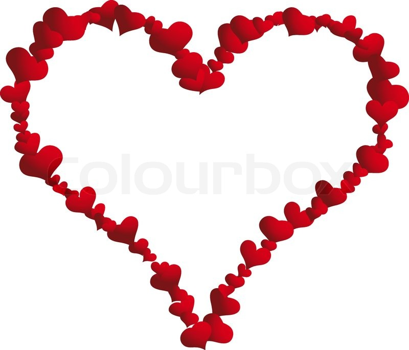 800x685 St. Valentine Day Vector Heart Frame For Design Use Stock Vector