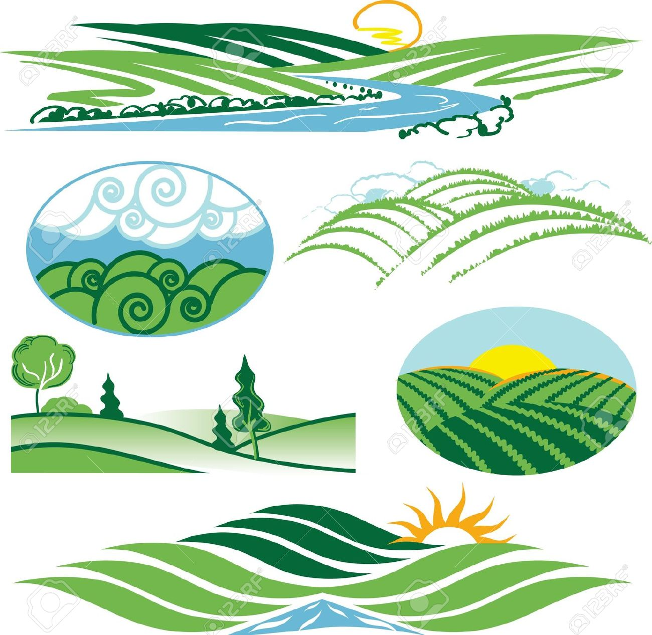 1300x1267 River Clipart Valley