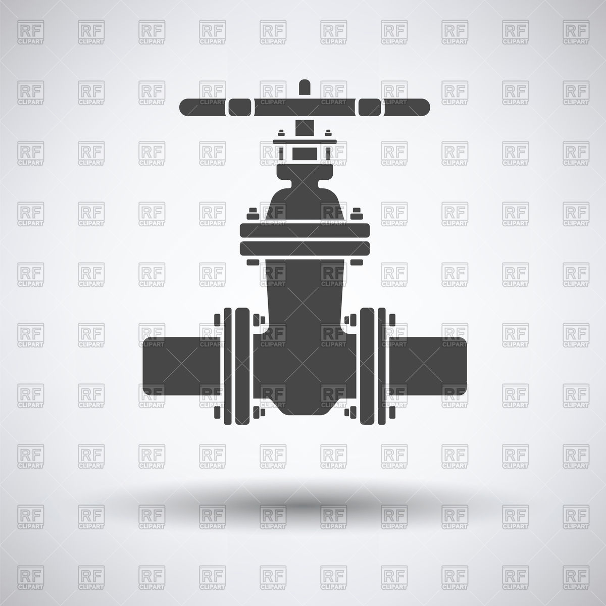1200x1200 Pipe Valve Icon On Gray Background Vector Image Vector Artwork