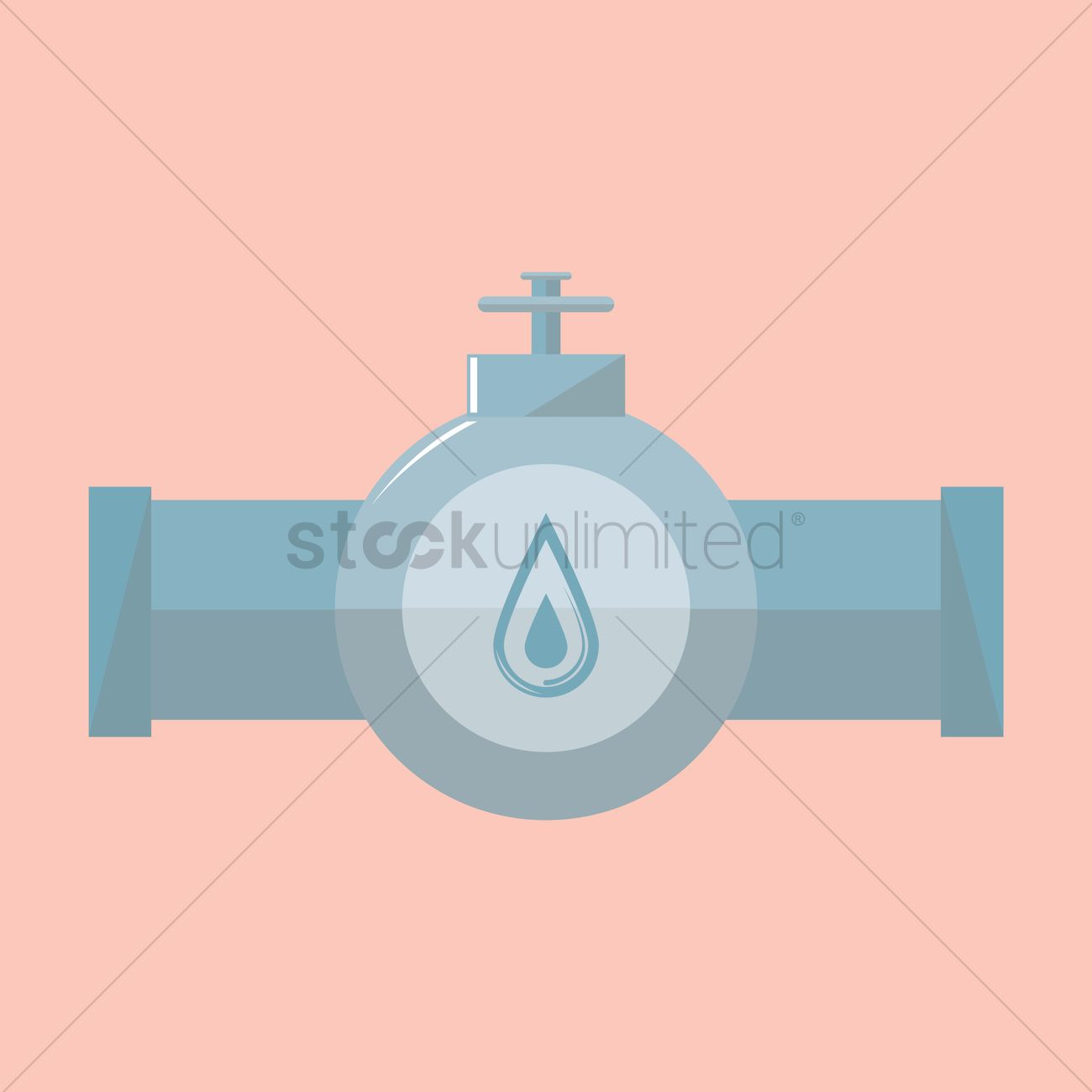 1300x1300 Pipeline With Valve Vector Image