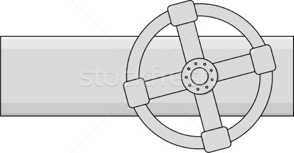 600x313 Simple Vector Gas Valve Vector Illustration Alexey Romanov