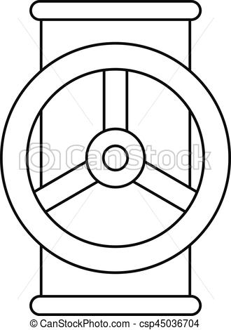 330x470 Valve Icon, Outline Style. Valve Icon. Outline Illustration Of