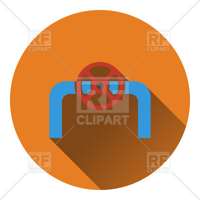 400x400 Icon Of Pipe With Valve Vector Image Vector Artwork Of Signs