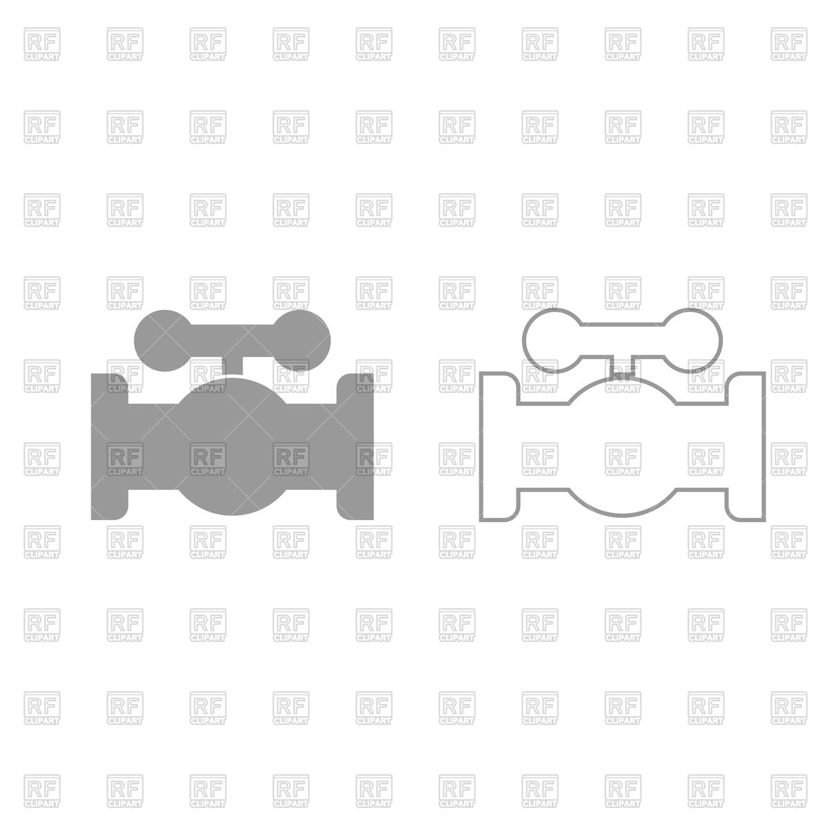1200x1200 Valve Simple Icon On White Background Vector Image Vector