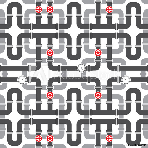 500x500 Background Pattern With Pipe With Valve Vector Illustration