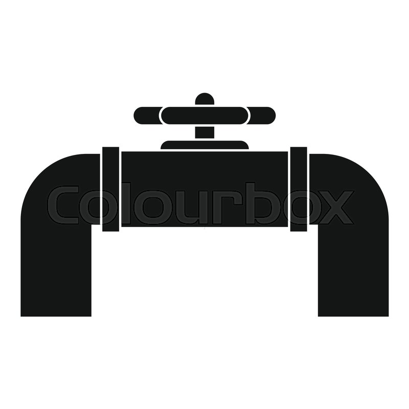 800x800 Industrial Pipe Valve Icon. Simple Illustration Of Industrial Pipe