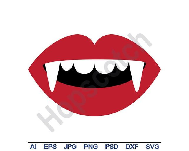642x514 Vampire Teeth Svg Dxf Eps Png Jpg Vector Art Clipart Etsy