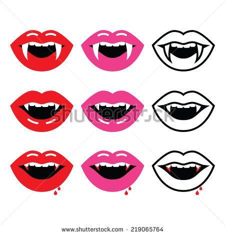 450x470 Vampire Mouth, Vampire Teeth Vector Icons Set By Redkoala