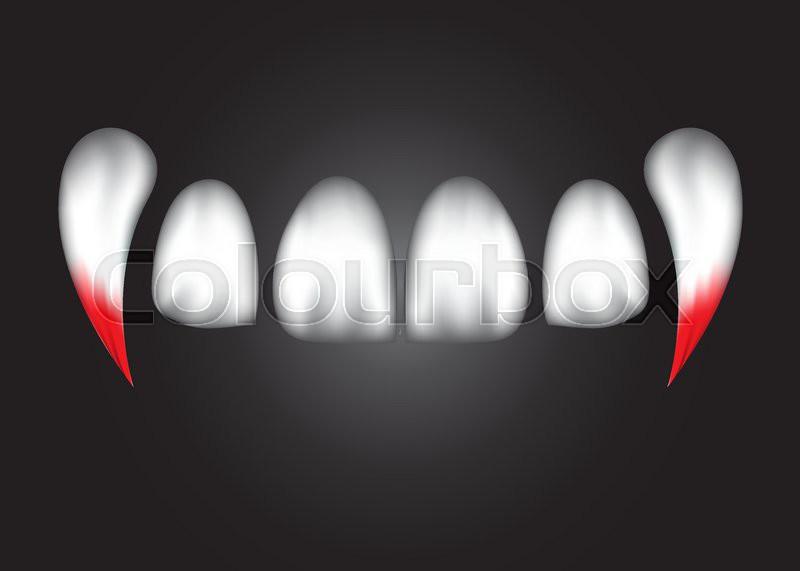 800x571 Vampire Teeth Witk Blood,eps 10. Stock Vector Colourbox