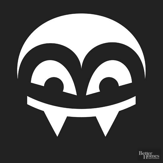 550x550 Cartoon Vampire Fangs Vector Template