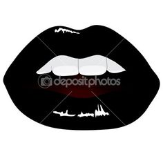 236x236 Vampire Mouth, Vampire Teeth Vector Buttons Set