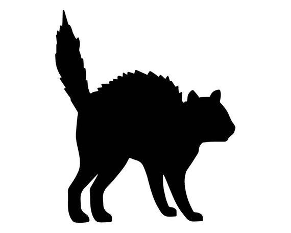 570x456 Cat Animal Kitten Black Night Halloween Animal Vampire Vector Etsy