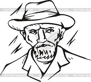 300x273 Self Portrait By Van Gogh