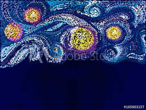 500x375 Van Gogh Background