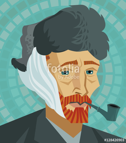 440x500 Van Gogh Cartoon Stock Image And Royalty Free Vector Files On