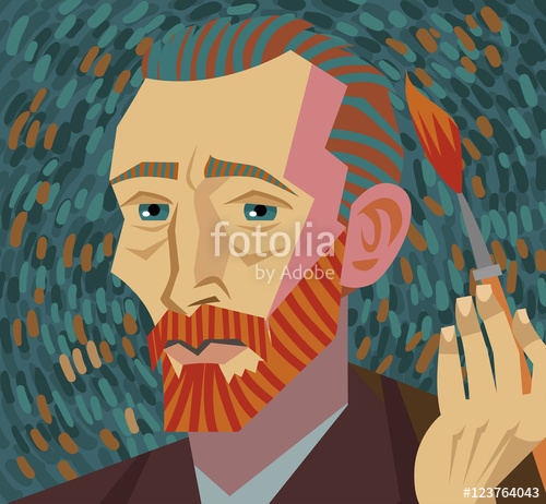 500x462 Van Gogh Painter Face Drawing Stock Image And Royalty Free Vector