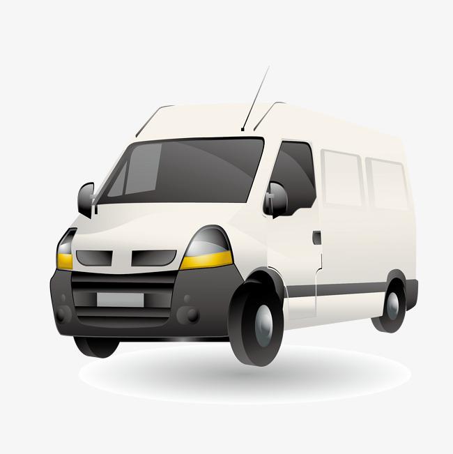 650x651 White Van Vector Material, Van Vector, White, Van Png And Vector